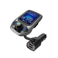 2.4a qc3.0 display led mão-livre mp3 player bluetooth transmissor fm carregador de carro de carregamento rápido para iphone para huawei