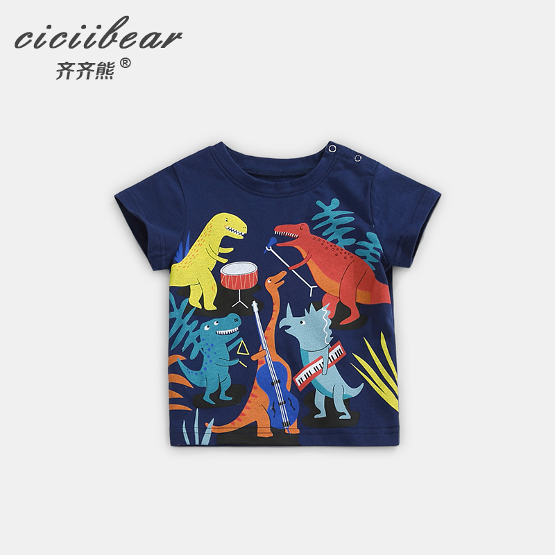 Ciciibear Childrens Boys Girls T-Shirt Newborn Baby Cotton Clothing Summer T-shirt Kids Cartoon  Pattern Top Tee  0-5Year