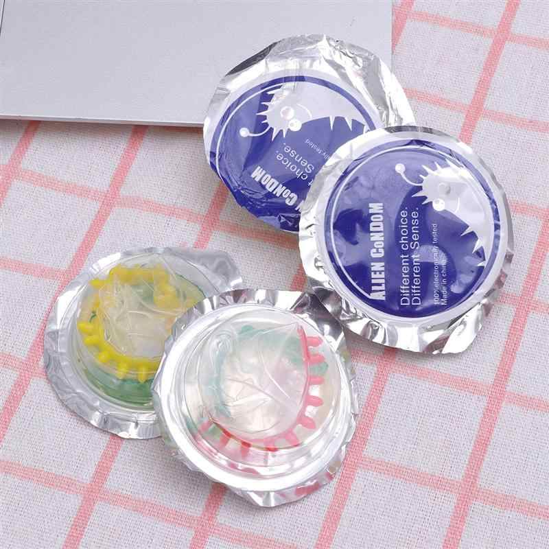 10pcs Valentine'S Day Sex Toys Colorful Flower Condoms Safe Penis Sleeve Adult Sex Life Supplies Ultra-Thin Health Products
