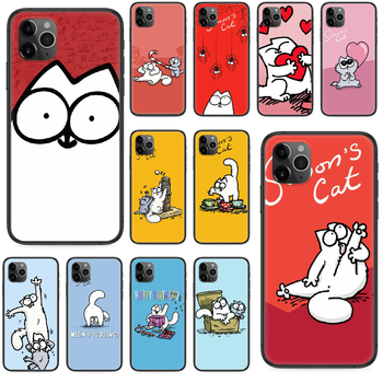 cartoon Simons cat Phone case For iphone 4 4s 5 5S SE 5C 6 6S 7 8 plus X XS XR 11 PRO MAX 2020 black shell fashion cell cover image