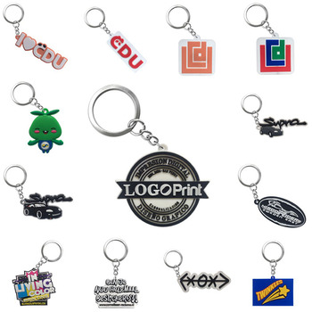 Personalized Custom PVC Keychain Business Logo custom-made Key Chain Your Own Design Key Ring for Wholesale image