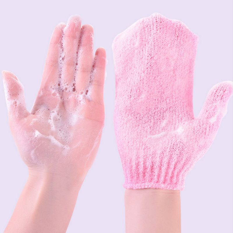 Strong Strong Exfoliating Composite Fine Fiber Body Scrub Gloves Dead Skin Remove Bathing Shower Deep Cleaning Smooth Skin