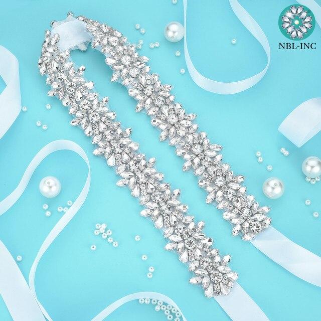 (1PC)Rhinestone Bridal belt wedding with crystal diamond wedding dress accessories belt sash for wedding dress WDD1043 10