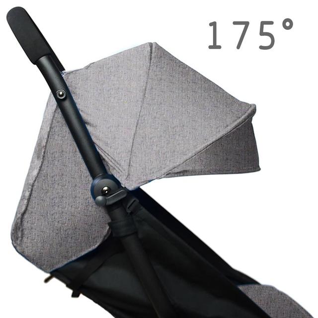 175องศารถเข็นเด็กทารกPad + Sun ShadeสำหรับBabyzen Yoyo YoyaทารกPramอุปกรณ์เสริมSunshade Canopyเบาะที่นั่งliner
