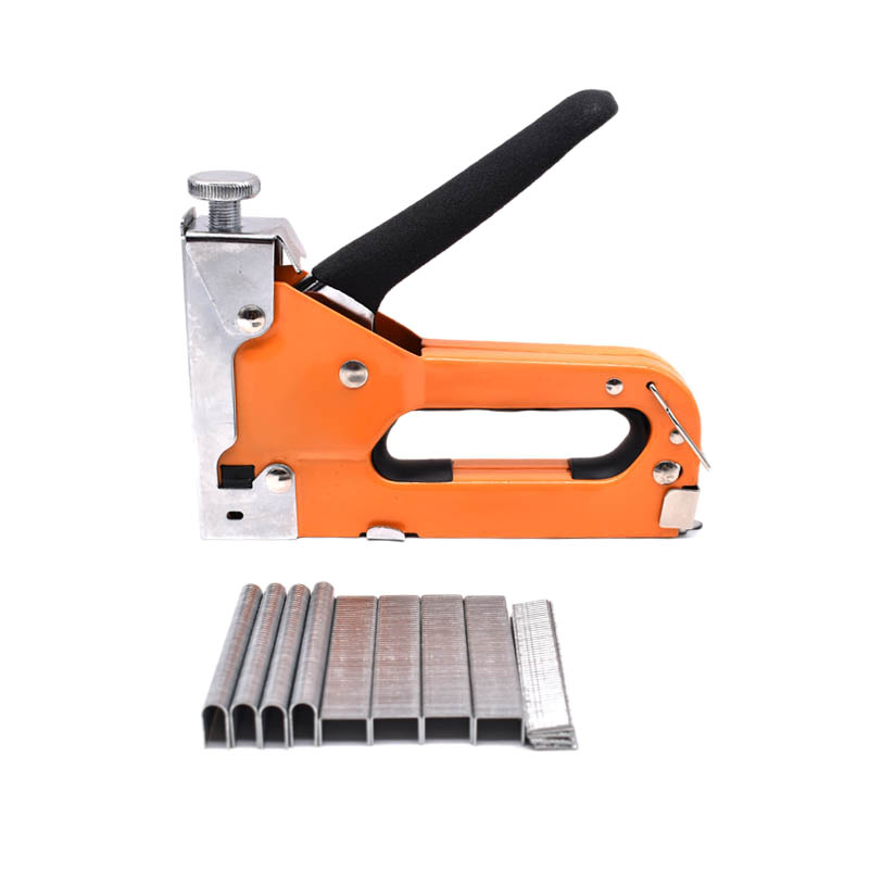 HLZS-Manual Nail Stapler With 600Pcs Nails For Furniture Upholstery Furniture Staple Household Hand Tool