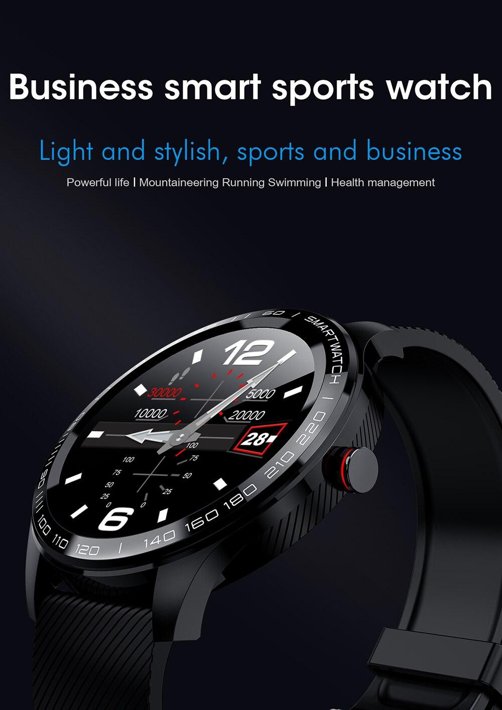 H809ebe1ef7994dffbeb1cb21b62a08bfD 696 L9 Full touch Smart Watch Men ECG+PPG Heart Rate Blood Pressure oxygen Monitor IP68 Waterproof Bluetooth Smart Bracelet