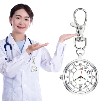 Nurse Quartz Chest Pocket Watch Keychain Round Dial Portable Pendant For Women Men H9