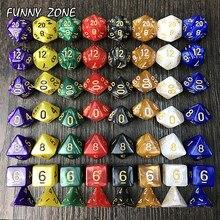 7 pc/bag multi-face dados com efeito de mármore d4 d6 d8 d10 d12 d20 jogo de tabuleiro jogo de jogos para entretenimento em casa
