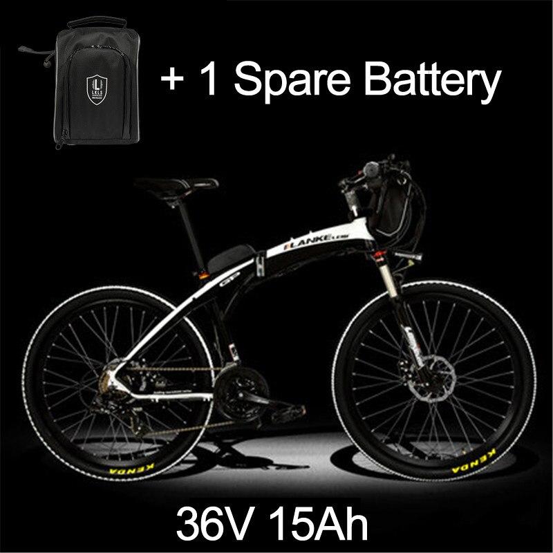 Lankeleisi 189,47 электрический велосипед, складной велосипед, 26 дюймов, 36/48 в, 240 Вт, дисковый тормоз, быстрый складной, горный - Цвет: 15a Black White Plus