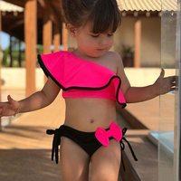 Слитные купальники для девочек
