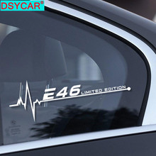 DSYCAR 2Pcs/Lot Vinyl Decals Car Window Sticker Auto Body Door Side Decor Stickers For BMW Car Accessories Stickers and Decals dogo argentino windshield sticker vinyl auto window v2 window decals