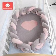 80*50 см переносная детская кроватка гнездо детская дорожная кровать хлопок складная детская бионическая кровать Младенческая Детская Колыбель съемный Babynest уход