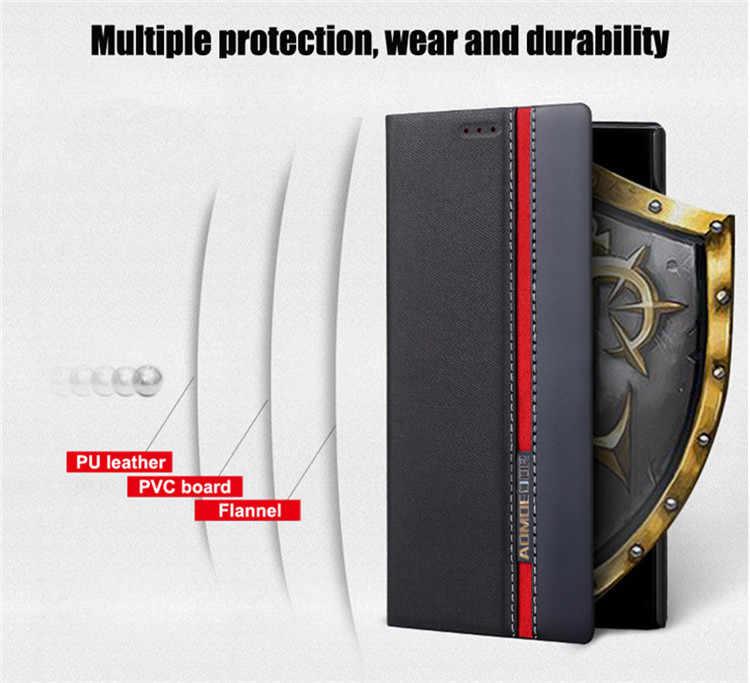 Lenovo z5s a5 s5 k5 nota 2018 gioco z6 pro s90 Caso di vibrazione del Cuoio della copertura per lenovo z6 lite posteriore casi di Stile Del Raccoglitore Del Basamento