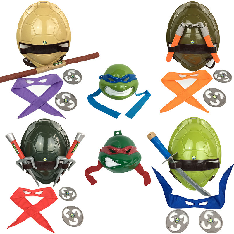 Ninja Weapon Turtle Shell Weapon Christmas Halloween Stage Play Prop Anime Movie Action Figure Model Children's Toy Gift