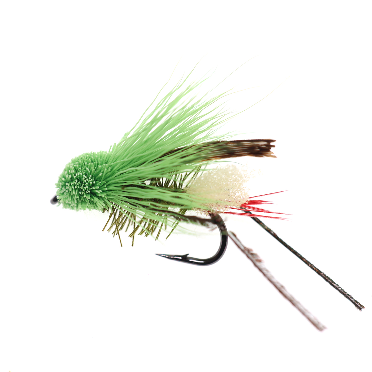 5PCS #10 Trout Fishing Fly Grass Hopper Fly terrestrial Hopper Fly Floating Bass Crappie Bug Bait Artificial Lure 15