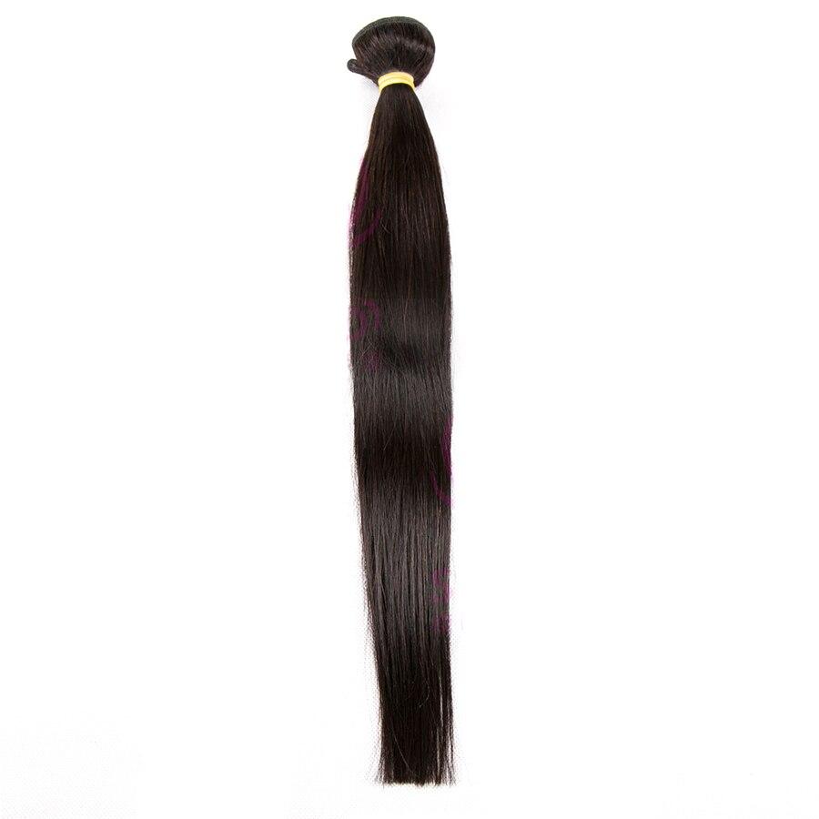 JSDShine Straight Hair Bundles Brazilian Hair Weave Bundles 100% Human Hair Bundles Natural Color Remy Hair Weave Extensions