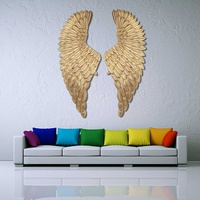 Large Ancient Iron Wall decoration angel wings Retro wings Creative Bar Cafe Wall decoration iron Home decorative accessories