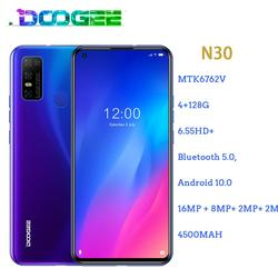 Doogee N30 смартфон с 5,5-дюймовым дисплеем, четырёхъядерным процессором MT6762V, ОЗУ 4 Гб, ПЗУ 128 ГБ, 4180 мАч, 16 МП, Android 10