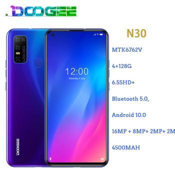 Перейти на Алиэкспресс и купить Doogee N30 смартфон с 5,5-дюймовым дисплеем, четырёхъядерным процессором MT6762V, ОЗУ 4 Гб, ПЗУ 128 ГБ, 4180 мАч, 16 МП, Android 10