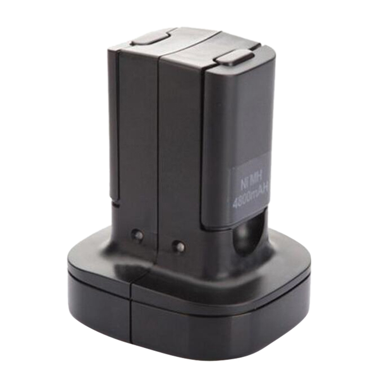 Dual Charger Dock Station With 2Pcs 4800Mah Rechargeable Battery Led Charging Light For X-box 360 Controller Eu Plug
