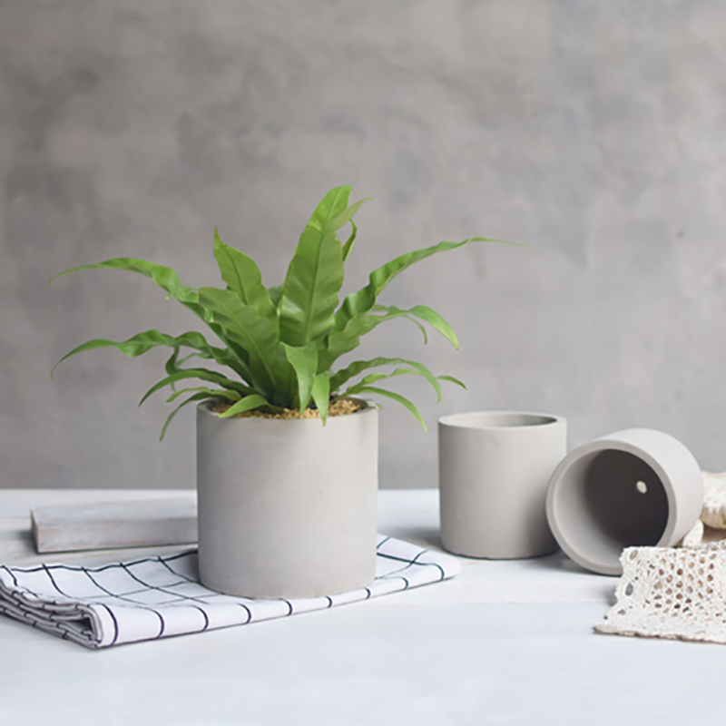 Nicole Resin Mold Succulent Plants Flower Pot Silicone Mould Handmade Pen Holder Desktop Decoration Tool