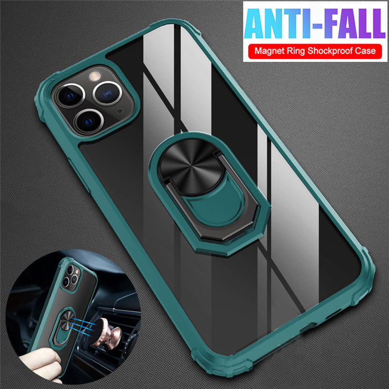 Magnetic <font><b>Bumper</b></font> Shockproof Phone <font><b>Cases</b></font> For <font><b>iPhone</b></font> 11 11 Pro Max XR XS Max X 8 7 <font><b>6</b></font> 6S Plus 11 Pro Ring Stand Holder Back Cover image