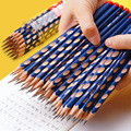 30 2B Hole Non-Toxic Pencils Children's Corrective Practice Calligraphy HB Student Sketch Pencil Wooden Pencil Office Stationery