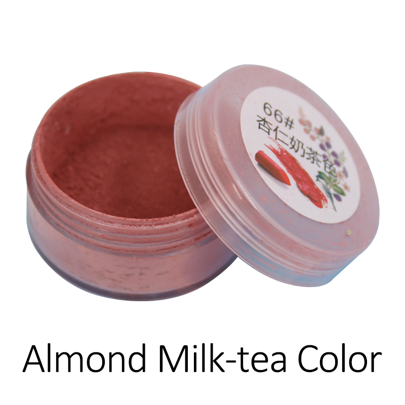 1g/bottle Almond Milk-tea Color Lip Gloss Cosmetic Pigment Long Lasting Powder Amazing Makeup Lip Stick Powder Hot Sexy