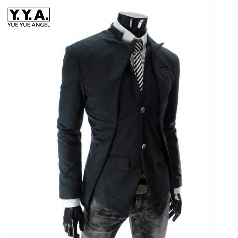 2020 New Arrival Men Casual Blazer Fashion Korean Solid Single Breasted Man Coats Slim Fit Mens Party Blazers Plus Size M-2XL