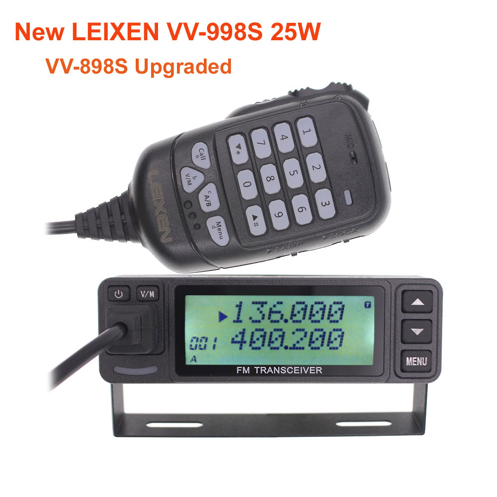 New LEIXEN VV-998S 25W Dual Band 144/430MHz Mobile Radio VV-998 Transceive Amateur Ham Radio VV-898S Upgraded