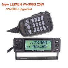 Nowy LEIXEN VV 998S 25W dwuzakresowy 144/430MHz mobilny radiowy UV 998 Transceive amatorski Ham Radio VV 898S ulepszony