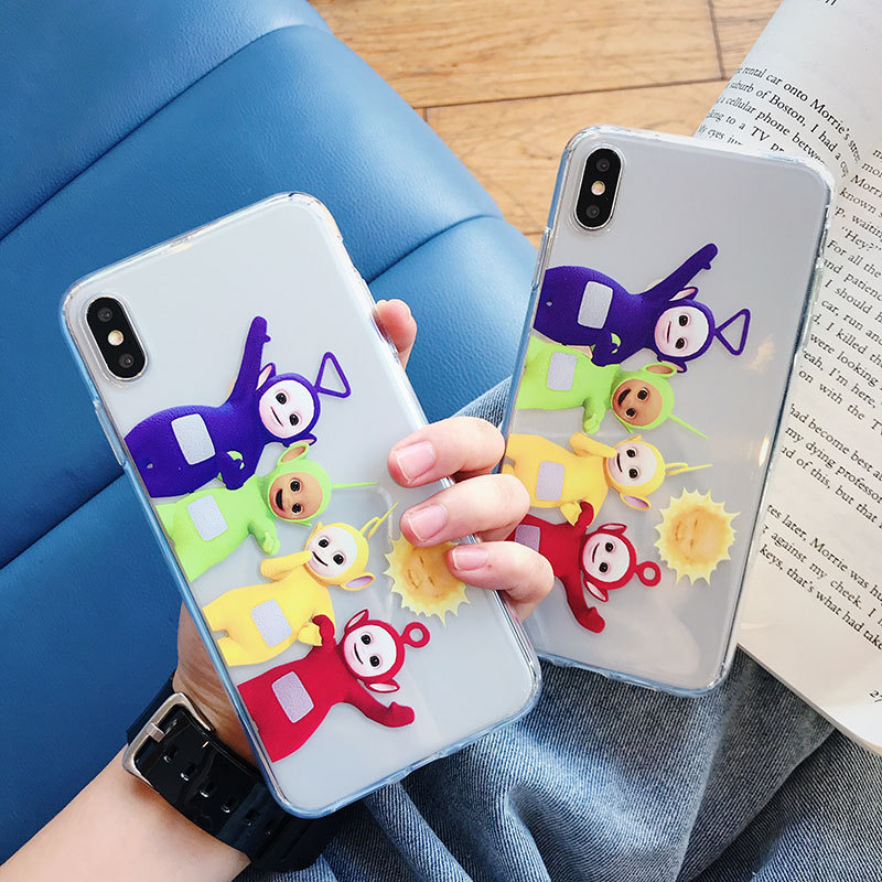 Teletubbies British baby cartoon Phone Case For iPhone 11 PRO Max X XS XSMax 7 8 6 S Plus XR Candy tpu soft silicone Cover coque|Fitted Cases|   - AliExpress