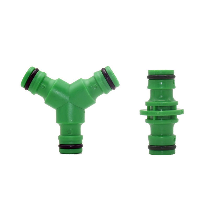 16mm 3-way Quick Connectors Y 2-way Nipple Connector Garden Hose Splitter 5/8 Inch Fittings 5 Pcs