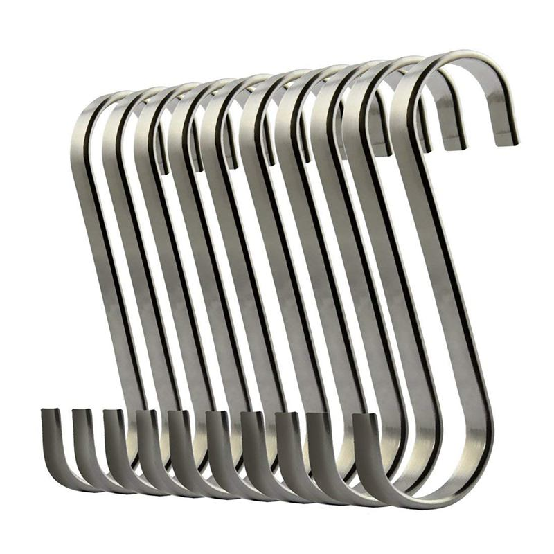 Set Of 10 S Stainless Steel Suspension Hooks For Kitchen Cookware Or Butcher Meat-ABUX