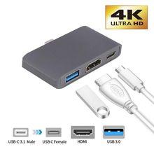 Тип C к HDMI USB 3,0 зарядный адаптер конвертер USB-C 3,0 концентратор адаптер для Mac Air Pro huawei Mate10 samsung S8 Plus Новинка