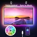 Светодиодная лента светильник RGB 5050SMD DC 5V гибкая лента 2835SMD 1 м 2 м 3 м лента диод USB Светодиодная лента лампа Bluetooth Музыка ТВ ПОДСВЕТКА светильник - фото