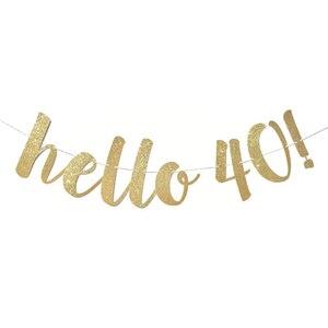 1 комплект золотых баннеров hello 30 40 50 60 бумажных баннеров, украшения на день рождения, свадебное украшение для взрослых, гирлянды