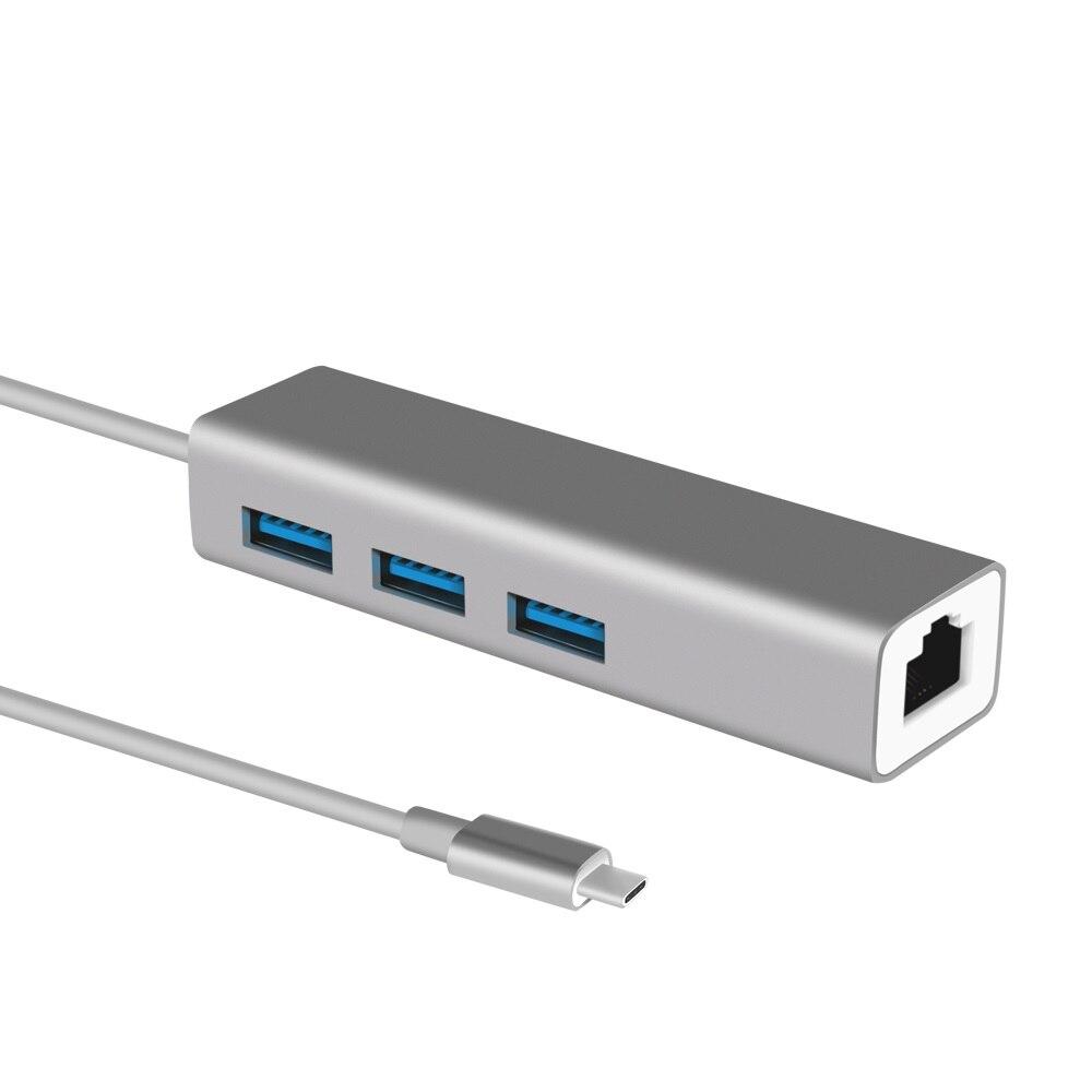 USB 3.0 HUB TYPE C To Gigabit Ethernet Lan RJ45 1000Mbps Adapter For Macbook Xiaomi Huawei Notebook