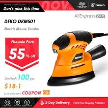 Deko lixadeira para mouse de 2019, limpador para mouse de escapamento de poeira para trabalho em casa faça você mesmo com 9 folhas de lixa