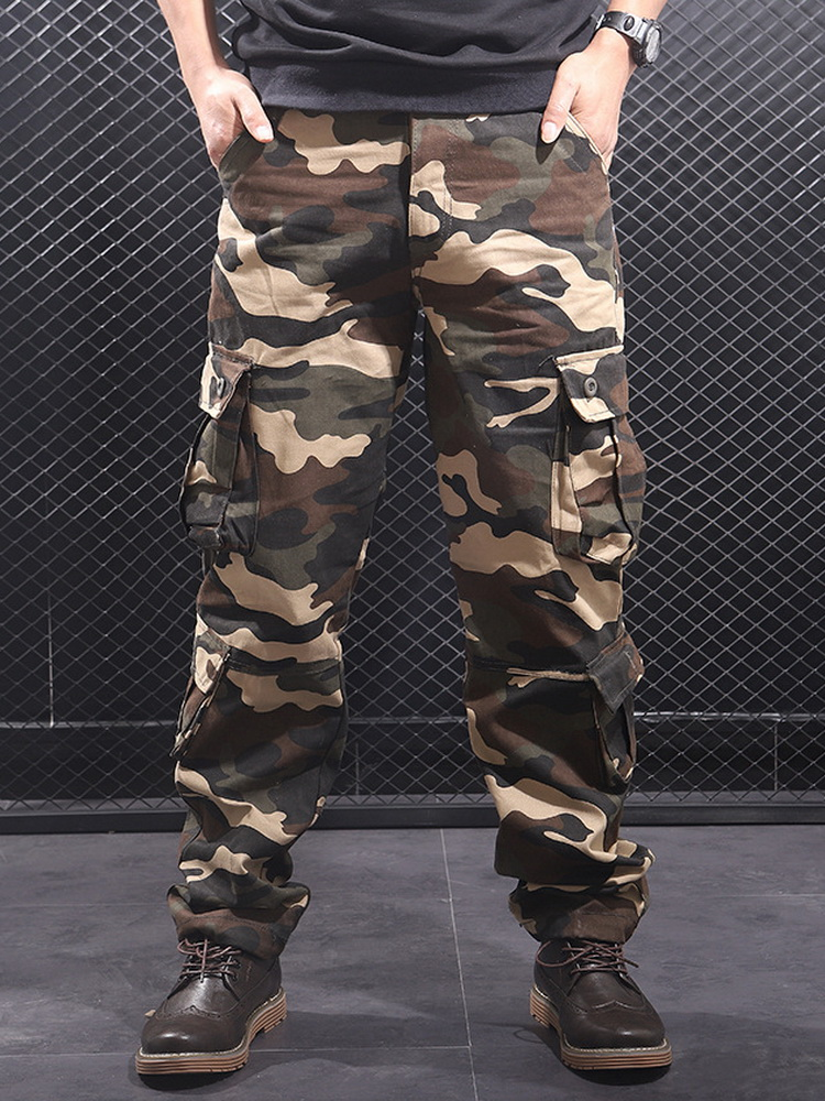 Cargo-Pants Pantalon Joggers-Streetwear Military Men Casual Camouflage Multi-Pockets