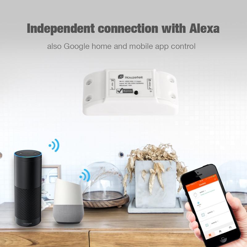 DIY WiFi Smart Light Switch Universal Breaker Timer Smart Life APP Wireless Remote Control Works with Google Home  alexa amazon