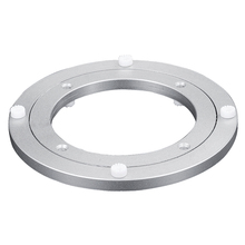 6 Sizes Round Shape Turntable Plate Table Smooth Swivel Plate Rotating Table Aluminium Alloy Rotating Bearing Lazy Susan Plate