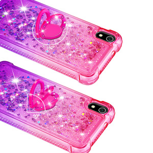 Image 4 - Newly Luxury Phone Case For Xiaomi Redmi 7A K20 K20 Pro Bling Heart Dynamic Kickstand Soft Edge TPU Bumper Back Cover Coque Gift