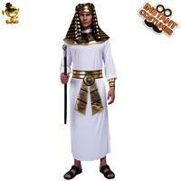 Men Egypt Pharaoh Costumes For Halloween Party Adults Cosplay Egyptian Robe Costumes