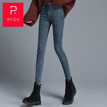 Rfzk плюс вельветовые джинсы женские с высокой талией обтягивающие