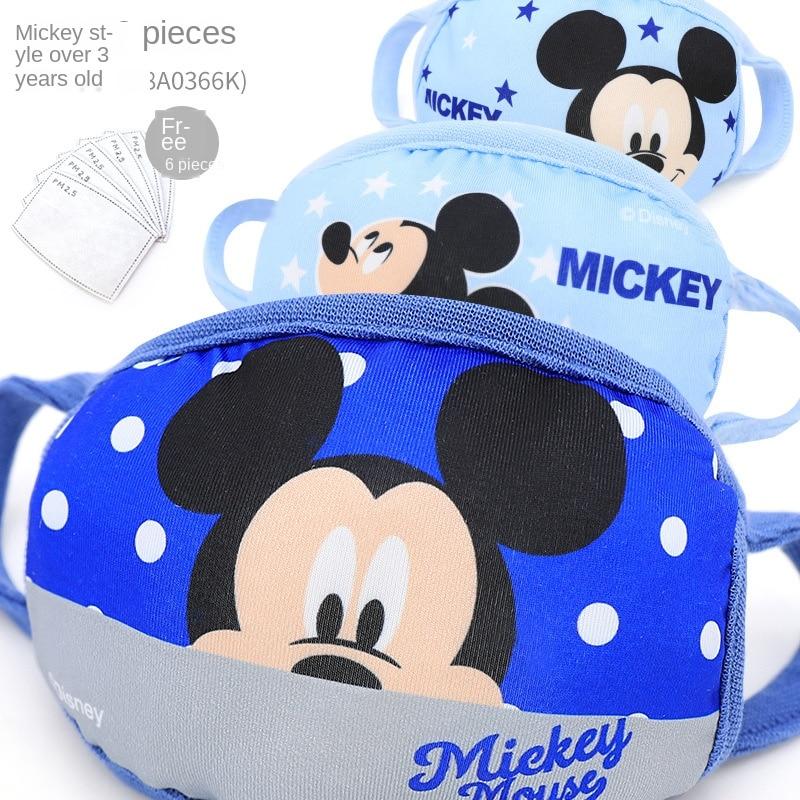 2020 News Disney Mickey Minnie Cartoons Dustproof  Mask Print Face Masks Reusable Children Mask Fabric Dust Masks For Gift