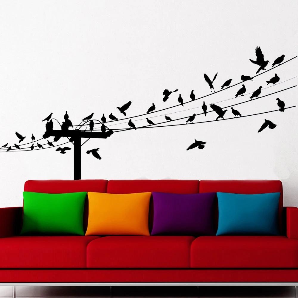 Colourful Birds Wall Sticker Art Vinyl Decal Mural Home Bedroom Décor