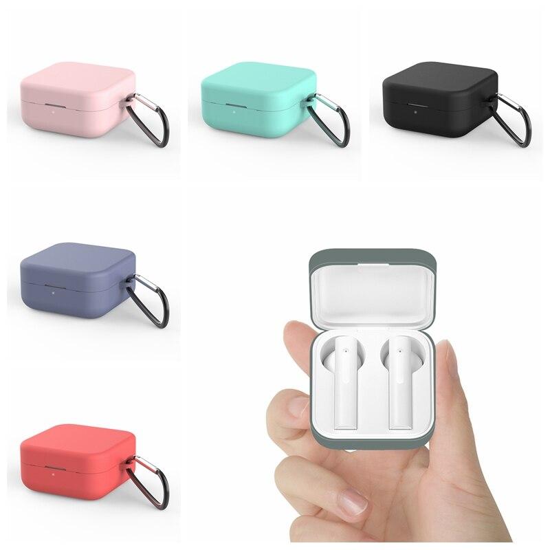 Silicone caso protetor do fone de ouvido para xiaomi ar 2 se bluetooth fones boxs para xiaomi mi air2 se capa com gancho