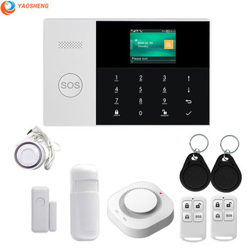 433Mhz GPRS Wifi GSM Alarm Security System Home Motion Sensor SIM SMS TFT Display LCD Touch Keyboard wired Wireless Alarm kit english french russian spanish voice wireless wired home security gsm alarm system lcd display touch keypad