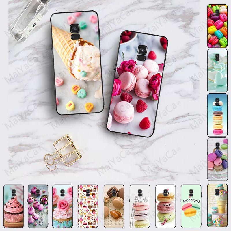 INK Heart Dessert Ice Cream Macarons Cake soft Phone Case For samsung Galaxy A10 A8 A6 A7 A9 A30 A50 A70 COVER Cellphones